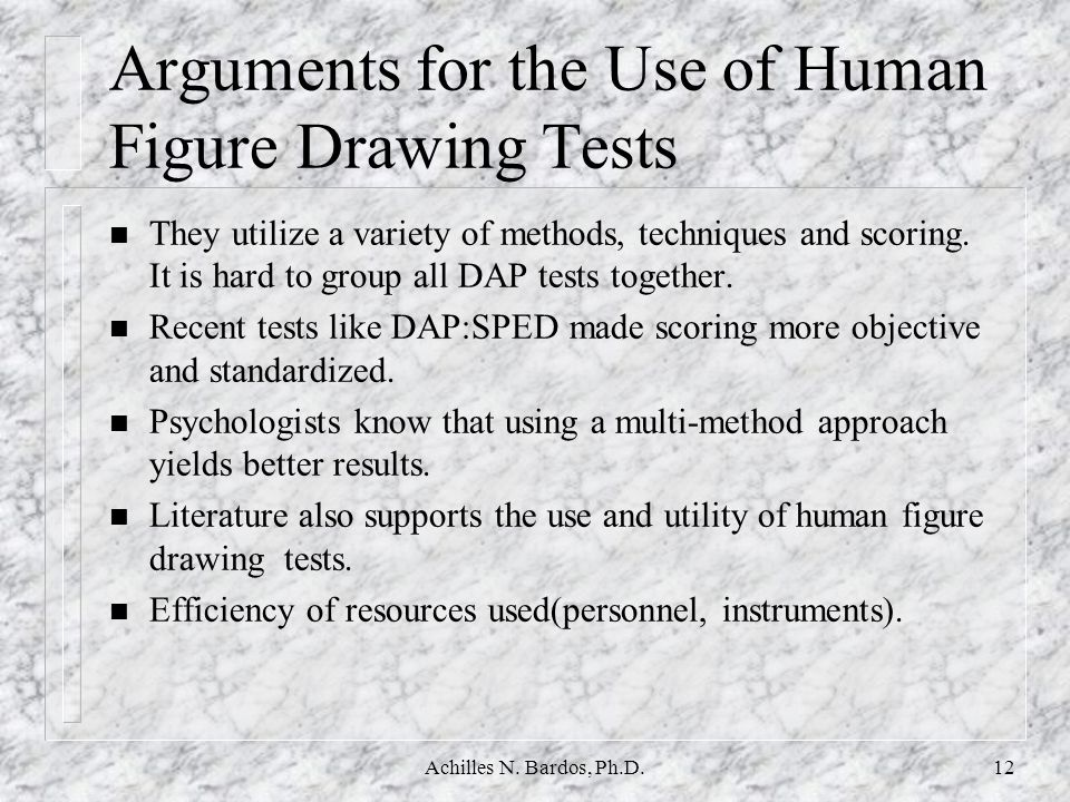 Arguments for the Use of Human Figure Drawing Tests