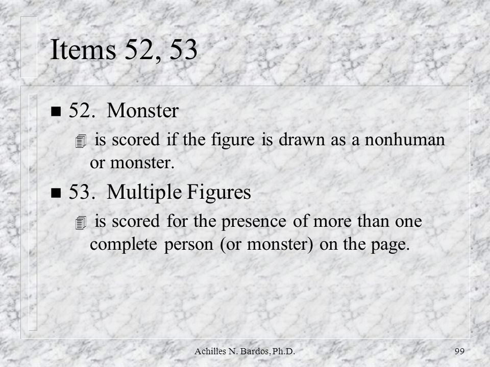 Items 52, 53 52. Monster 53. Multiple Figures