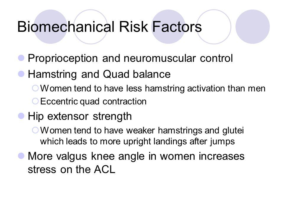 Biomechanical Risk Factors