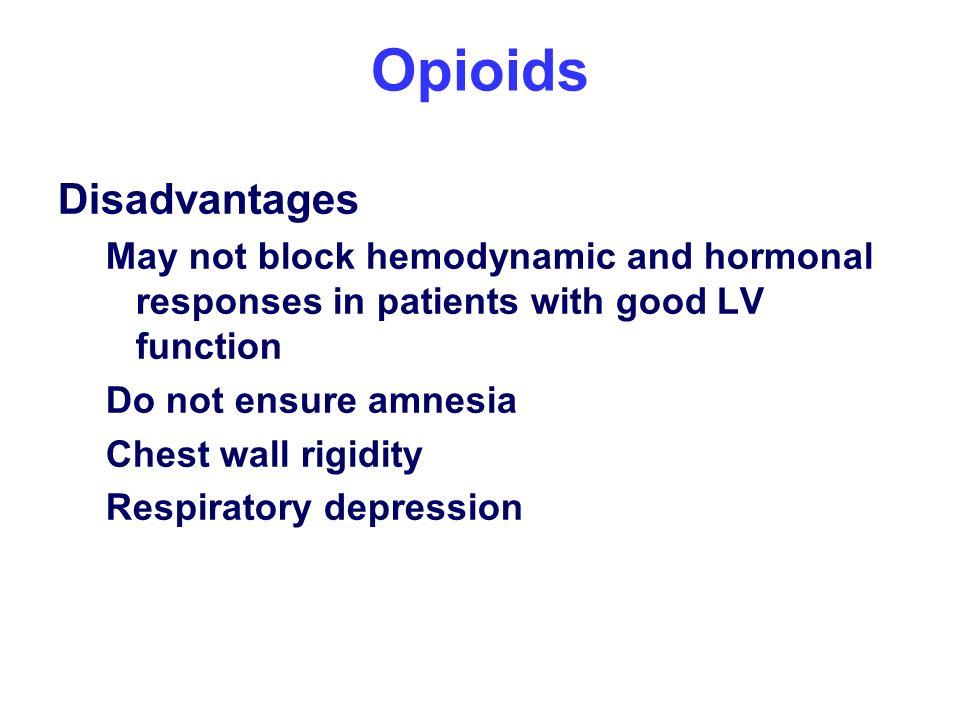 Opioids Disadvantages