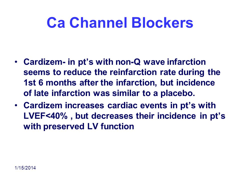 Ca Channel Blockers