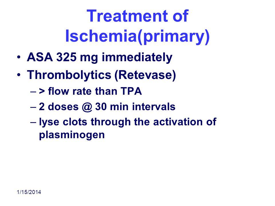 Treatment of Ischemia(primary)