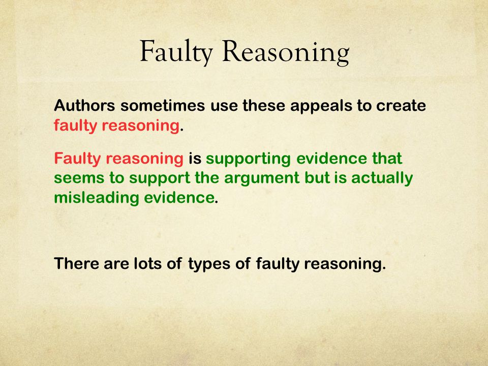 Faulty Reasoning