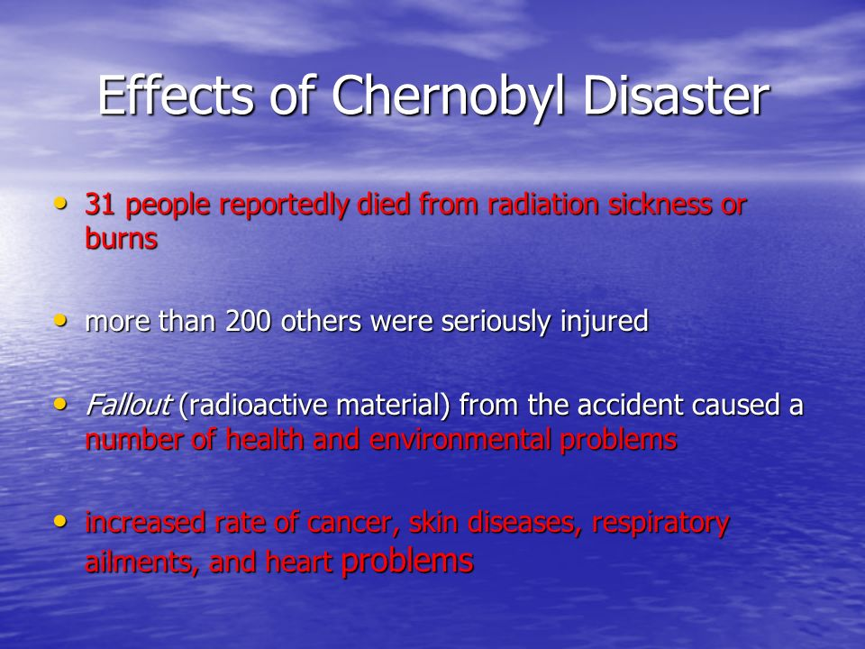 Effects of Chernobyl Disaster