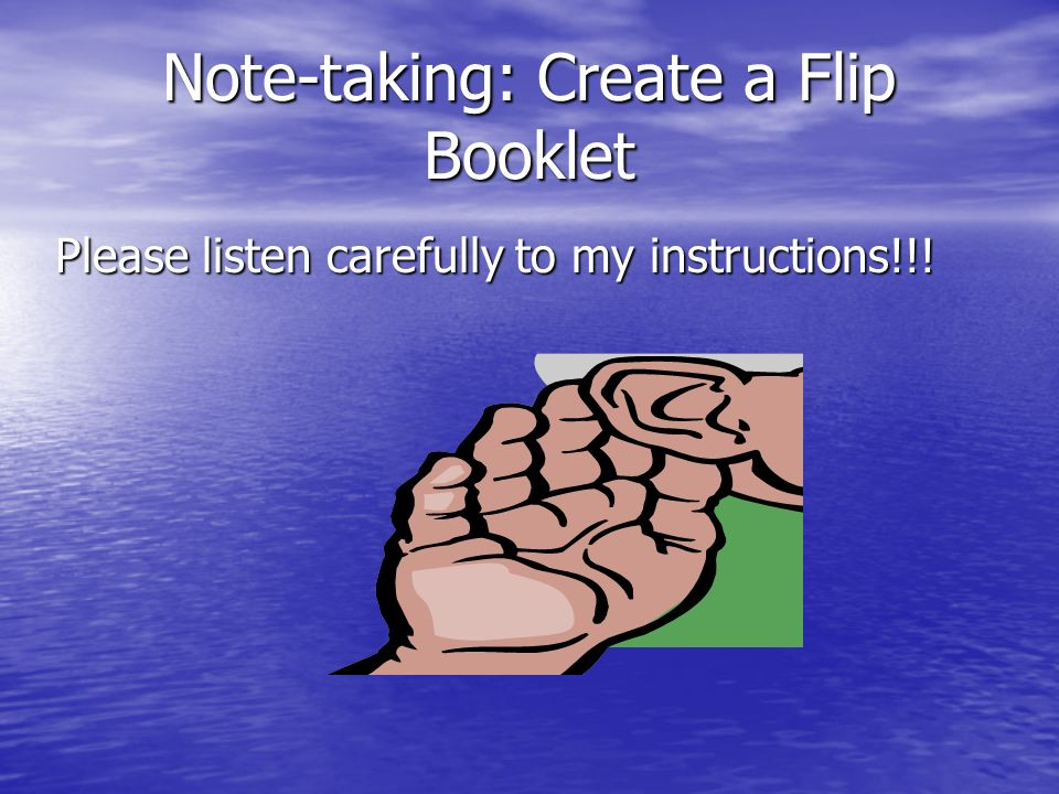 Note-taking: Create a Flip Booklet