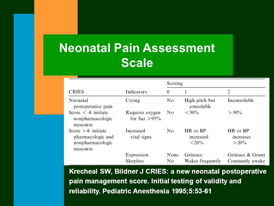 Neonatal Pain Assessment Scale