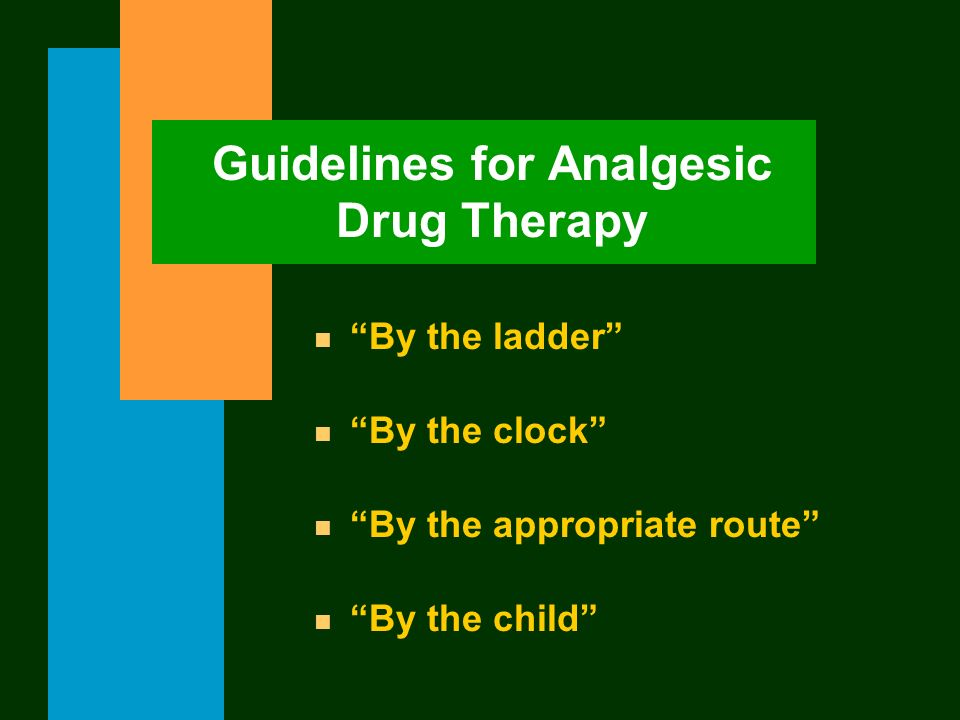 Guidelines for Analgesic Drug Therapy