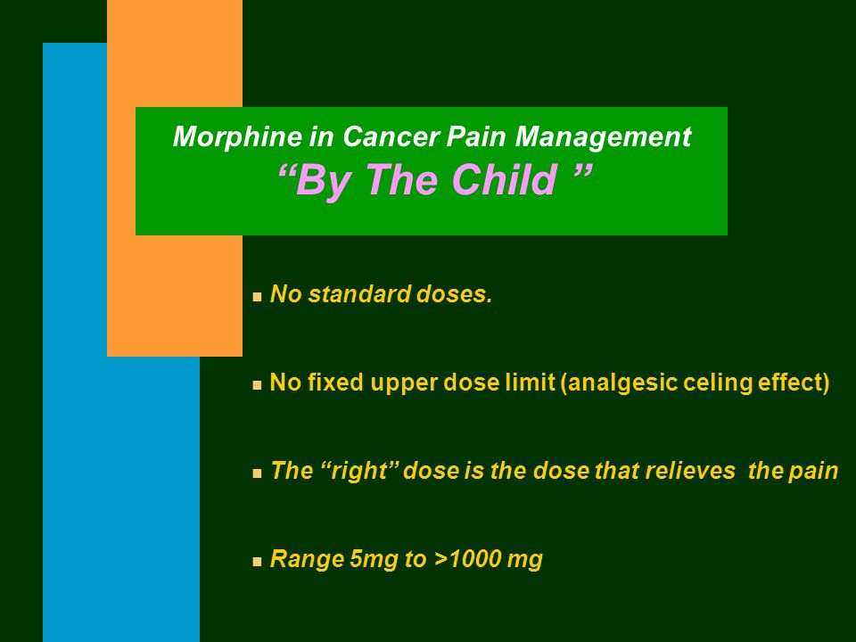 Morphine in Cancer Pain Management By The Child