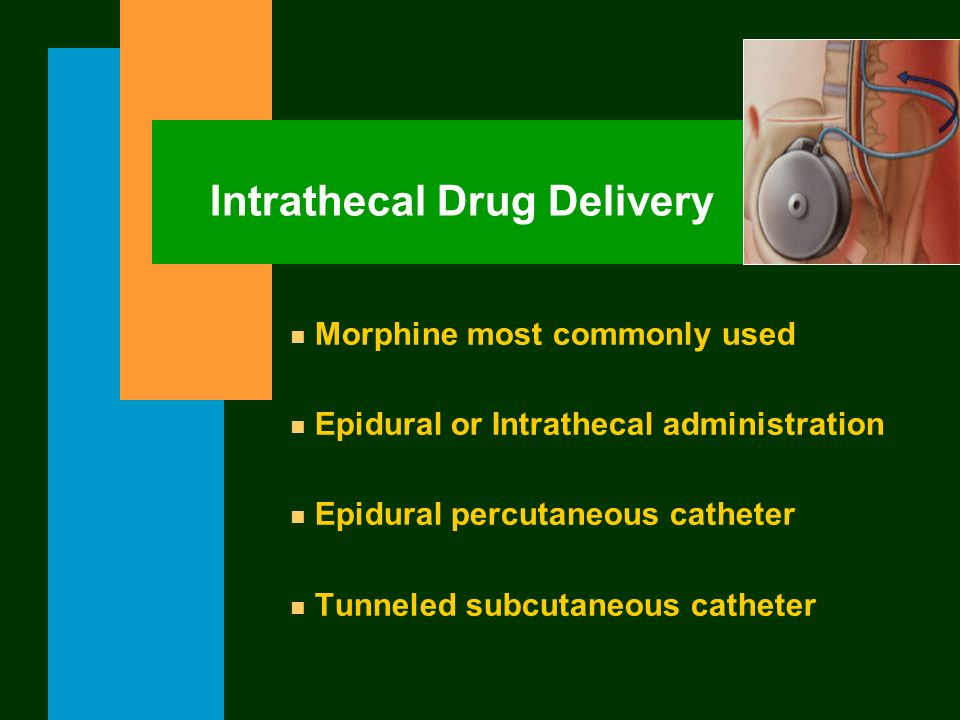 Intrathecal Drug Delivery