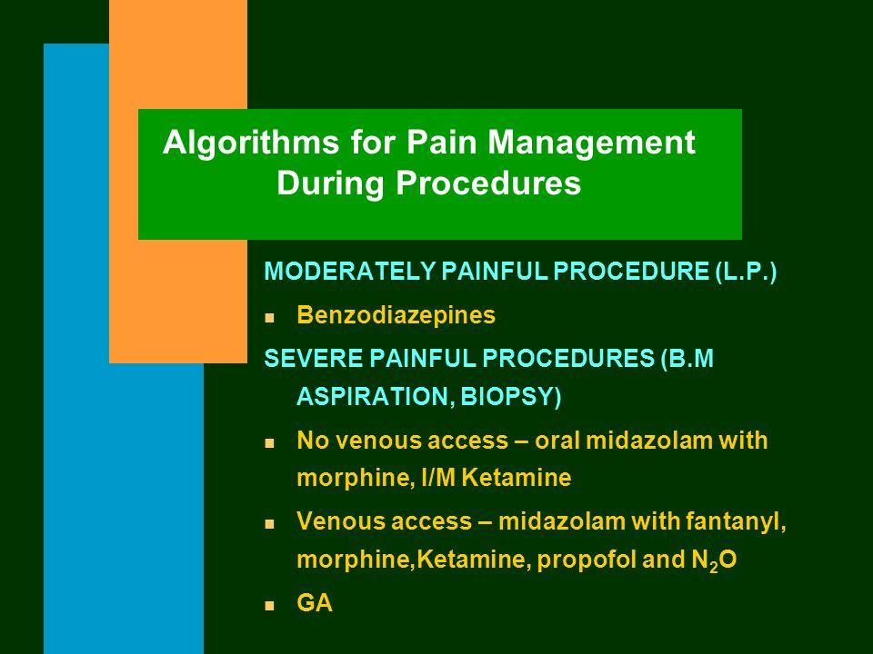 Algorithms for Pain Management During Procedures