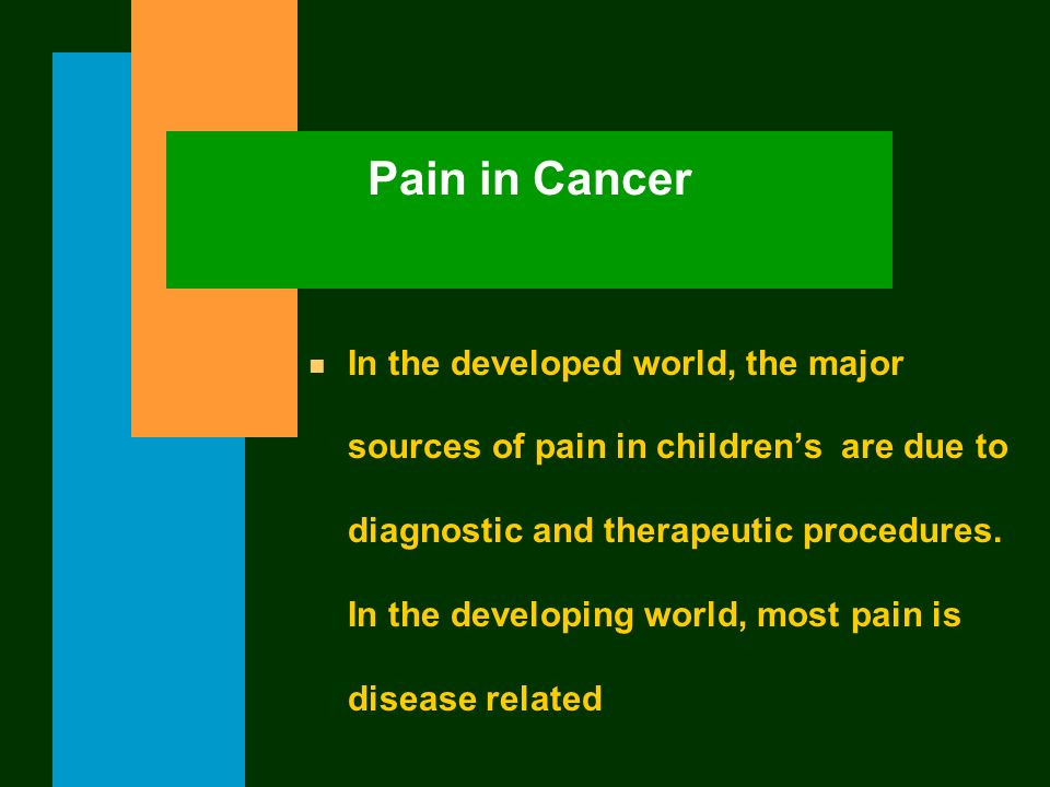 Pain in Cancer