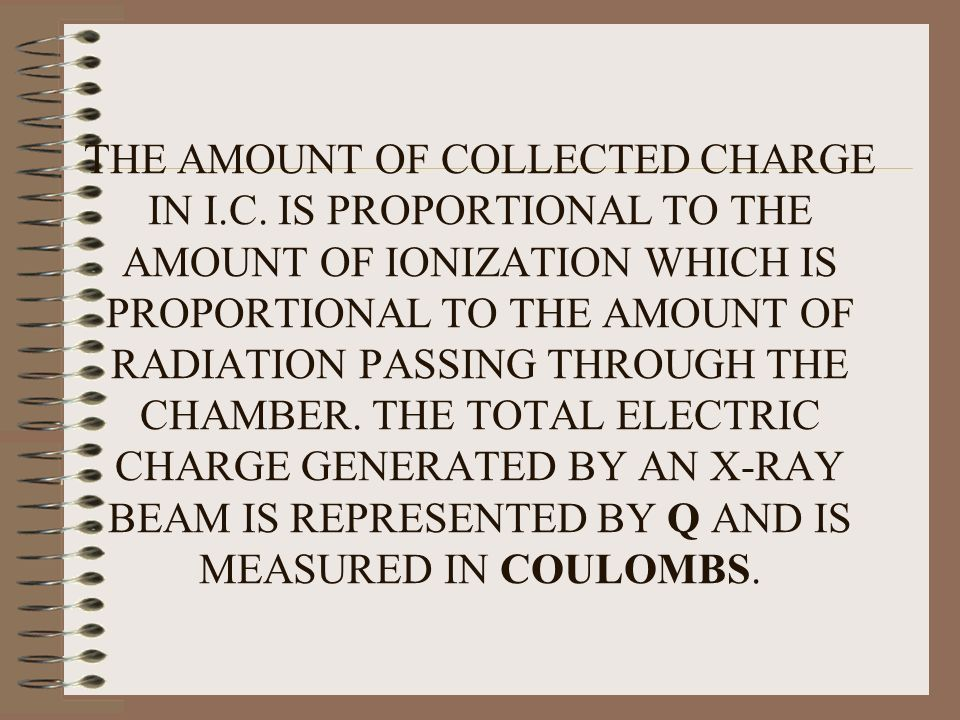 THE AMOUNT OF COLLECTED CHARGE IN I. C