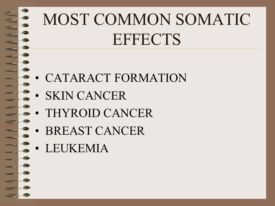 MOST COMMON SOMATIC EFFECTS