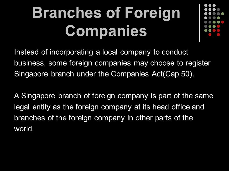Branches of Foreign Companies