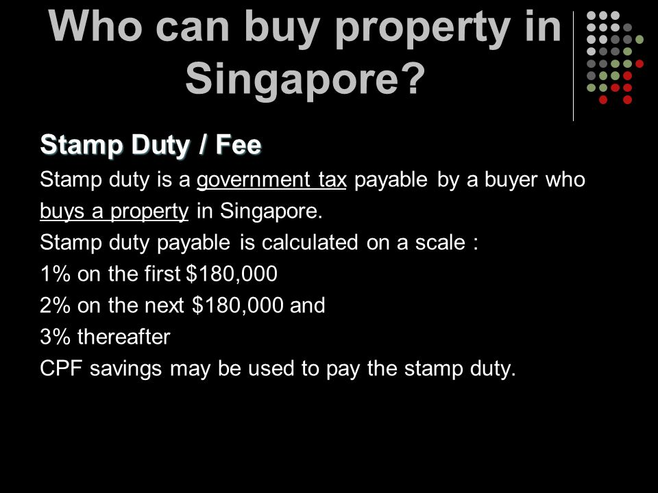 Who can buy property in Singapore