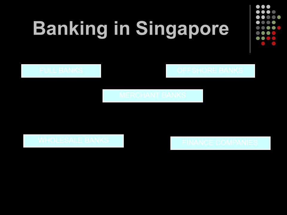 Banking in Singapore FULL BANKS OFFSHORE BANKS MERCHANT BANKS