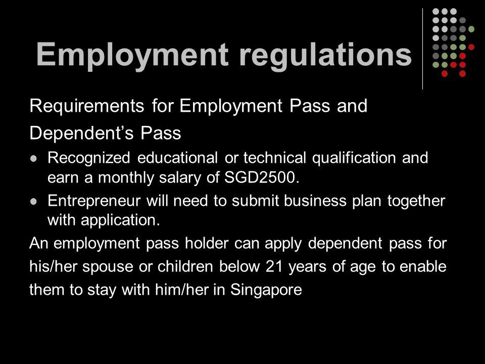 Employment regulations