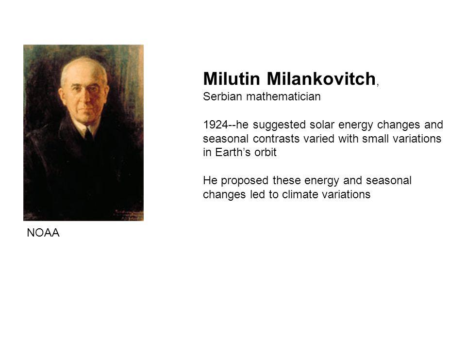 Milutin Milankovitch, Serbian mathematician
