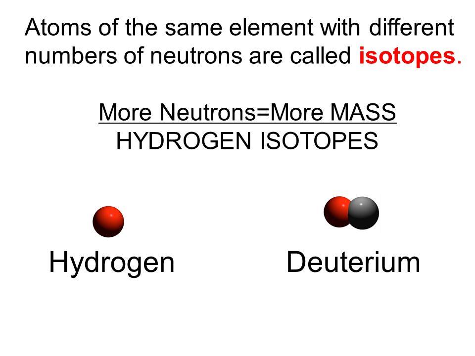 More Neutrons=More MASS