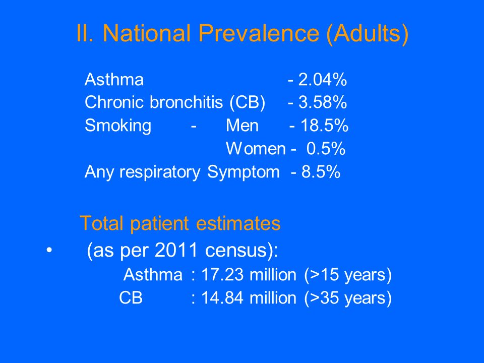 II. National Prevalence (Adults)