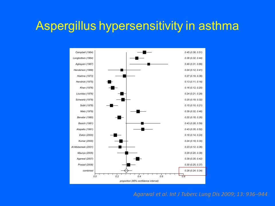 Aspergillus hypersensitivity in asthma