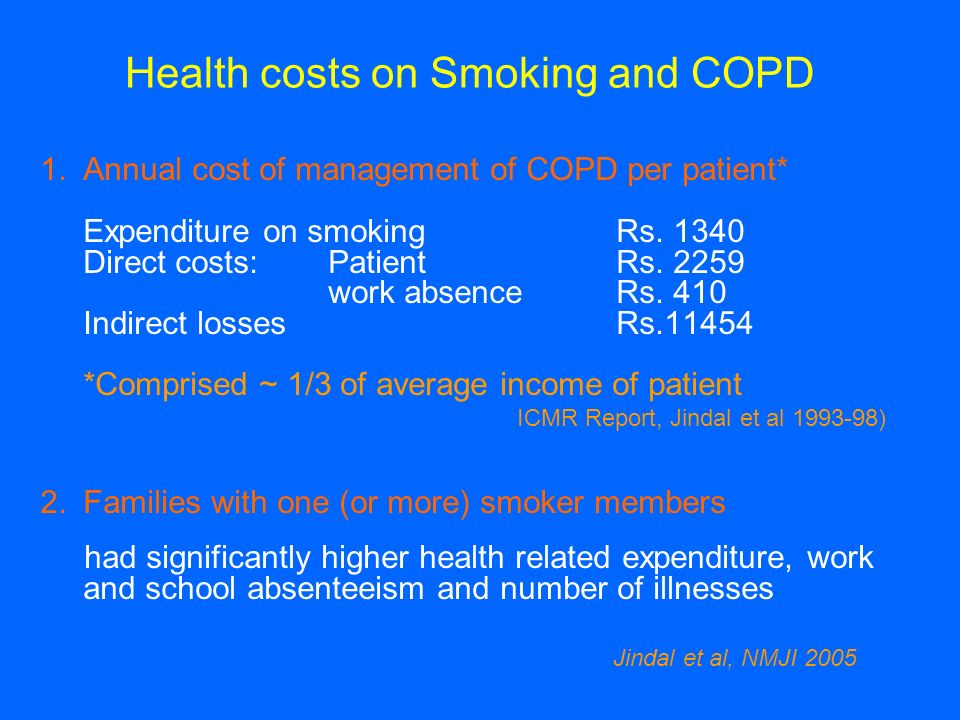 Health costs on Smoking and COPD