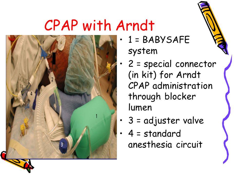 CPAP with Arndt 1 = BABYSAFE system