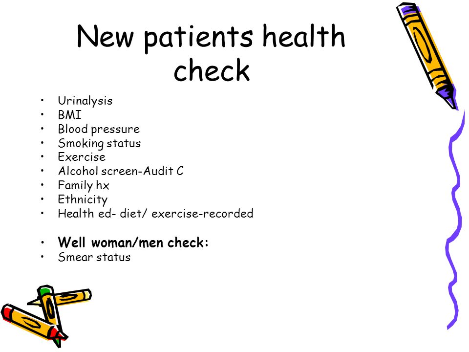 New patients health check