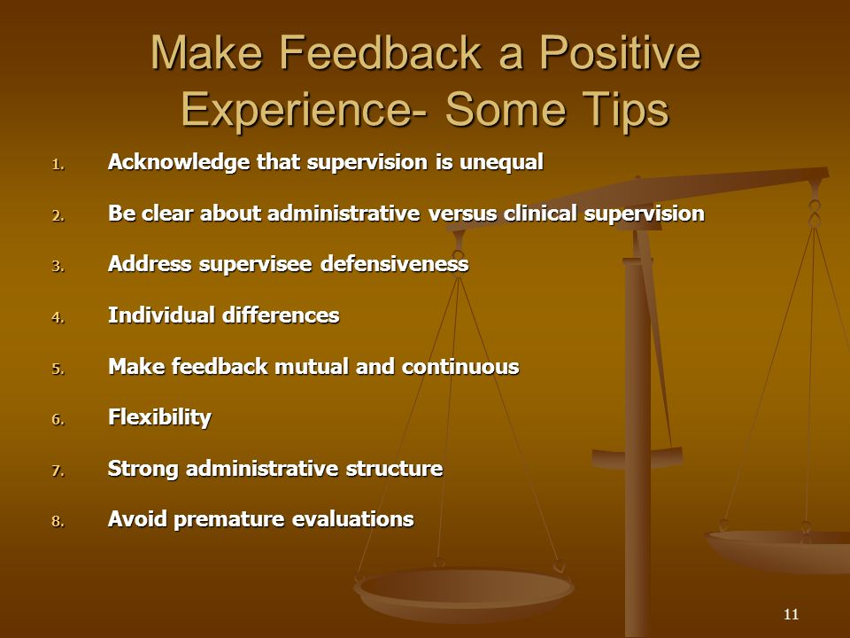 Make Feedback a Positive Experience- Some Tips