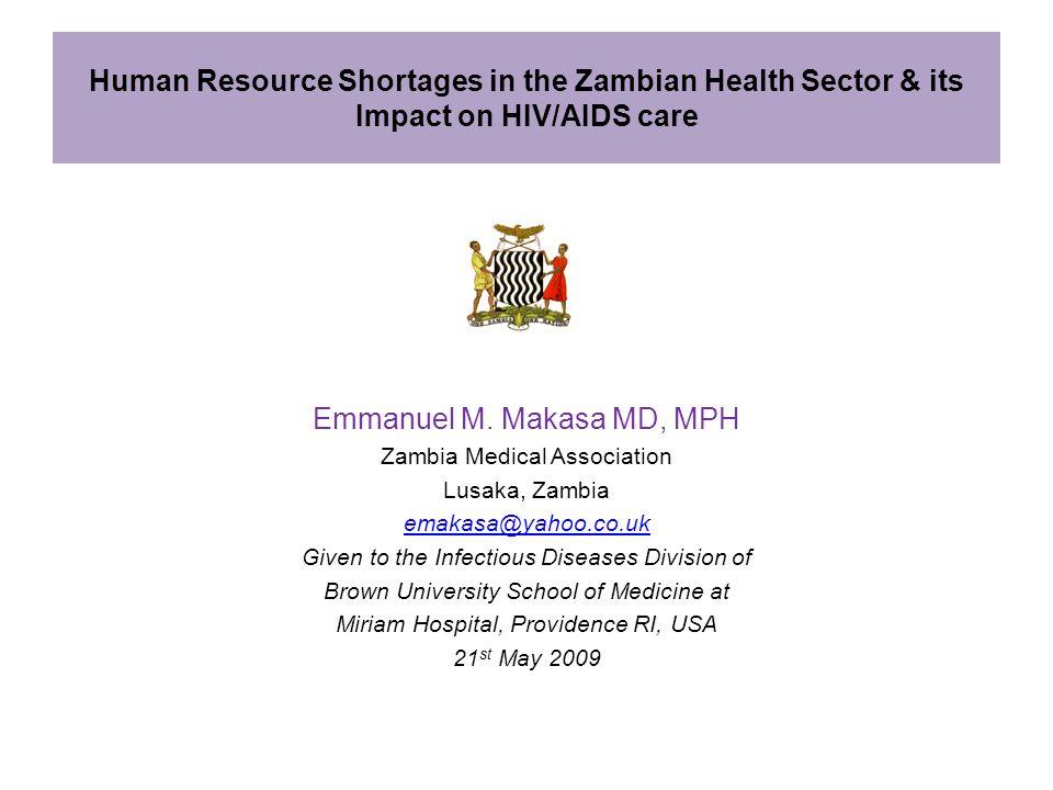 Emmanuel M. Makasa MD, MPH