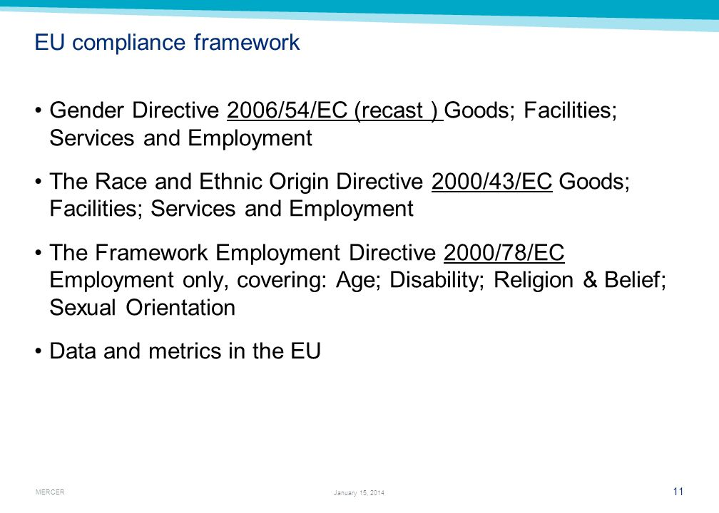 EU compliance framework