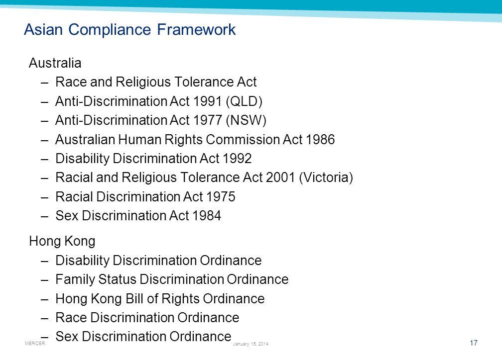 Asian Compliance Framework