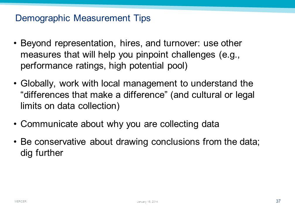 Demographic Measurement Tips