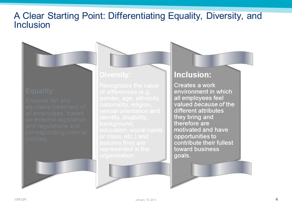 A Clear Starting Point: Differentiating Equality, Diversity, and Inclusion