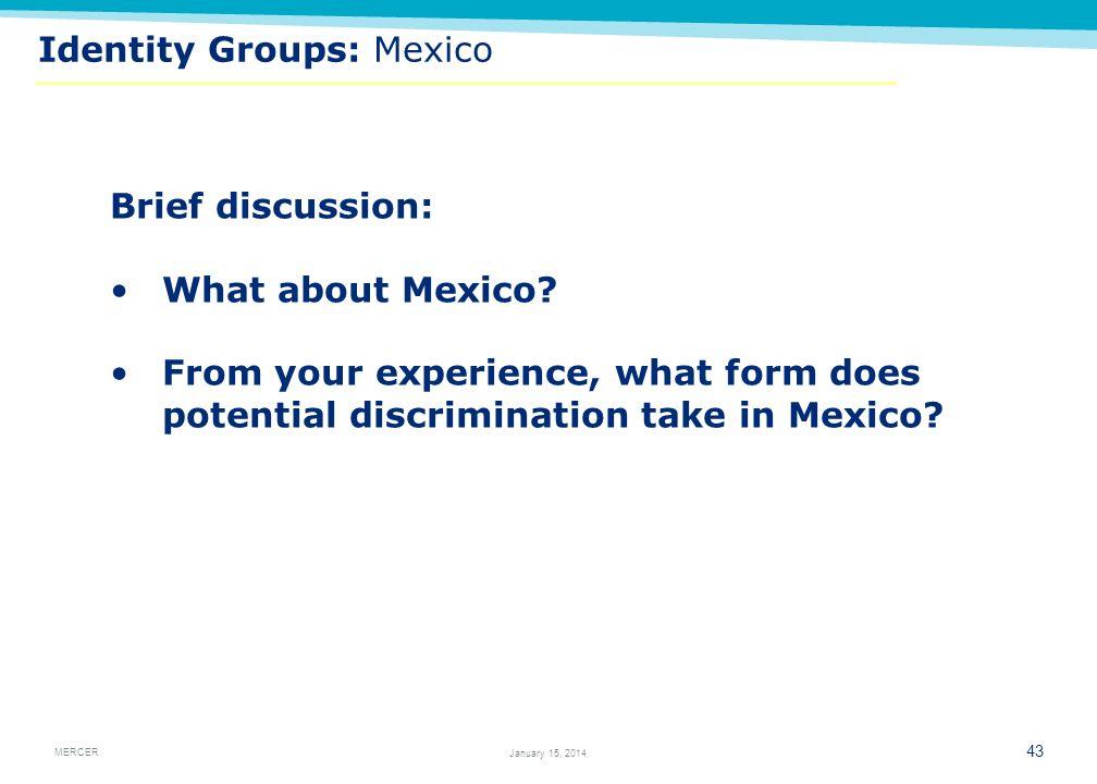 Identity Groups: Mexico