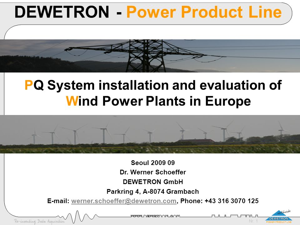 DEWETRON - Power Product Line