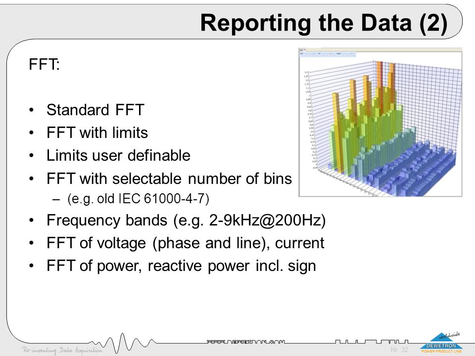 Reporting the Data (2) FFT: Standard FFT FFT with limits