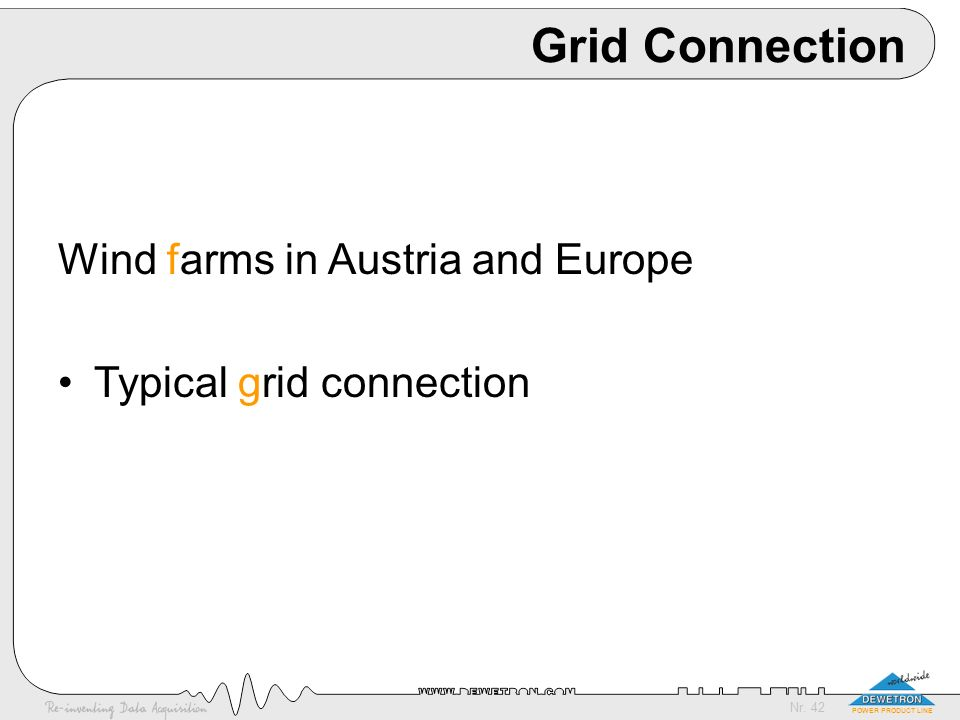 Grid Connection Wind farms in Austria and Europe
