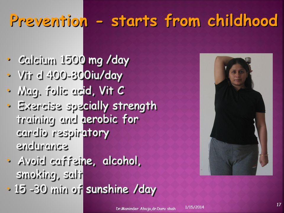 Prevention - starts from childhood