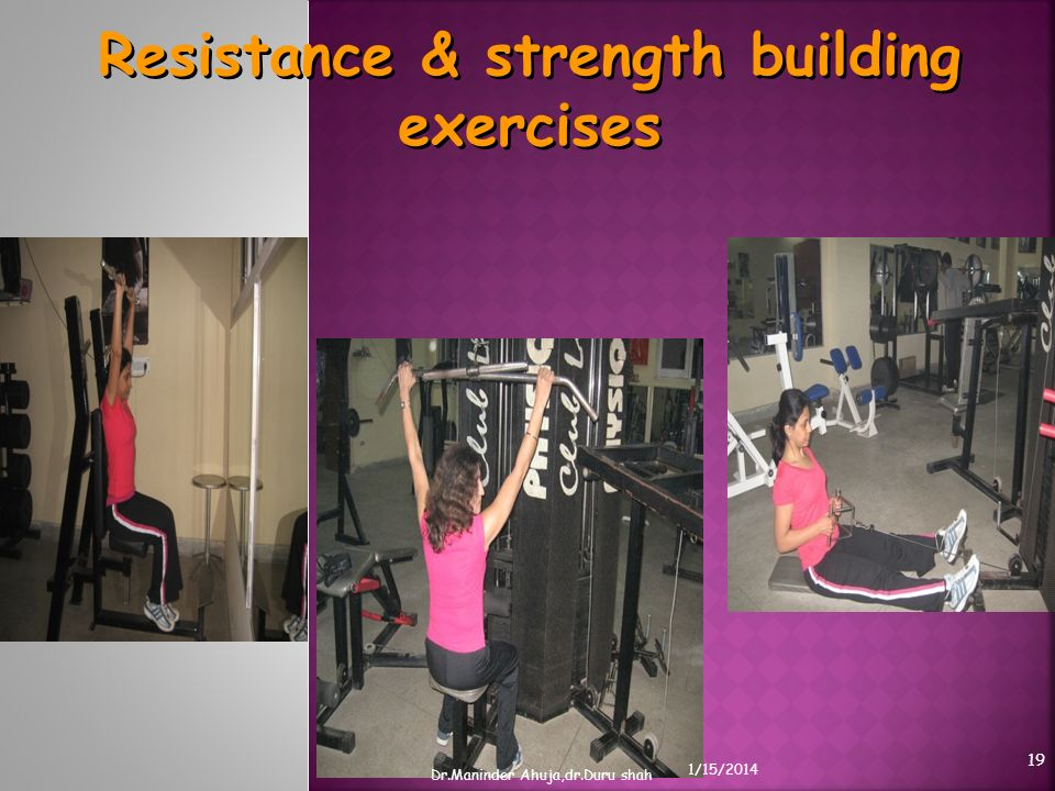Resistance & strength building exercises