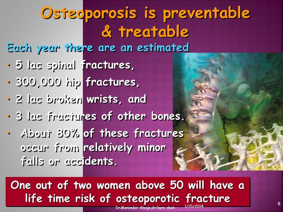 Osteoporosis is preventable & treatable