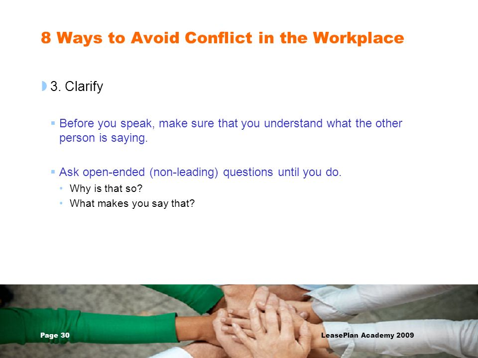 8 Ways to Avoid Conflict in the Workplace