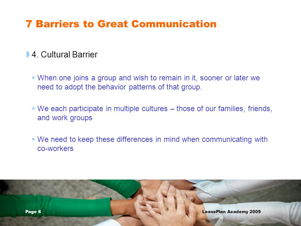 7 Barriers to Great Communication