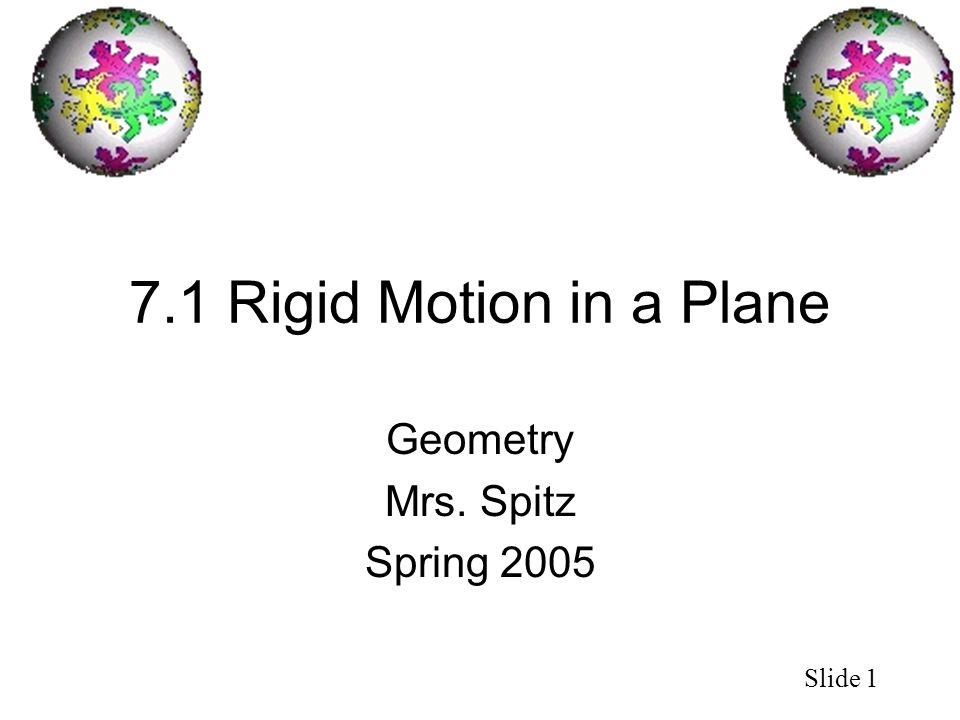 Geometry Mrs. Spitz Spring 2005