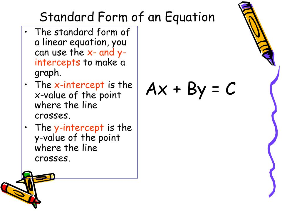 Standard Form of an Equation