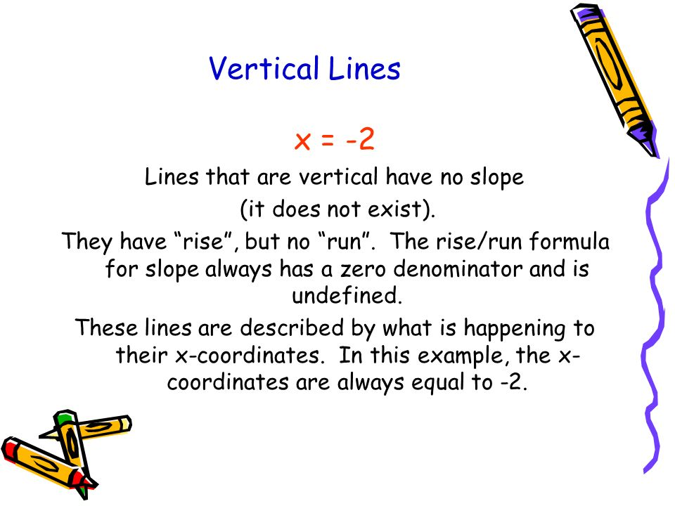 Lines that are vertical have no slope