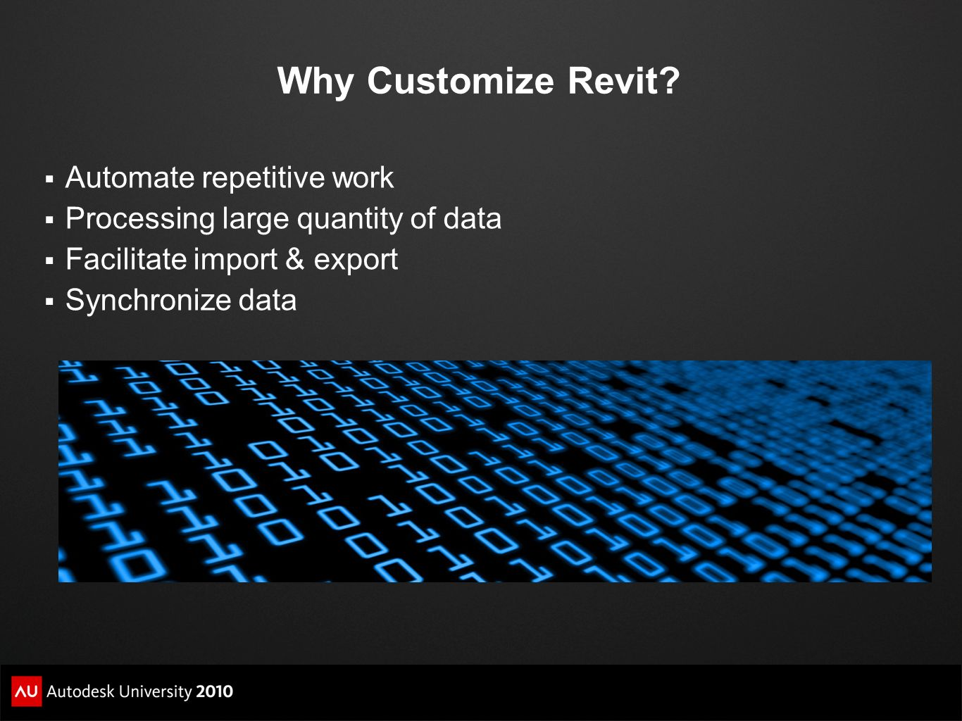 Why Customize Revit Automate repetitive work