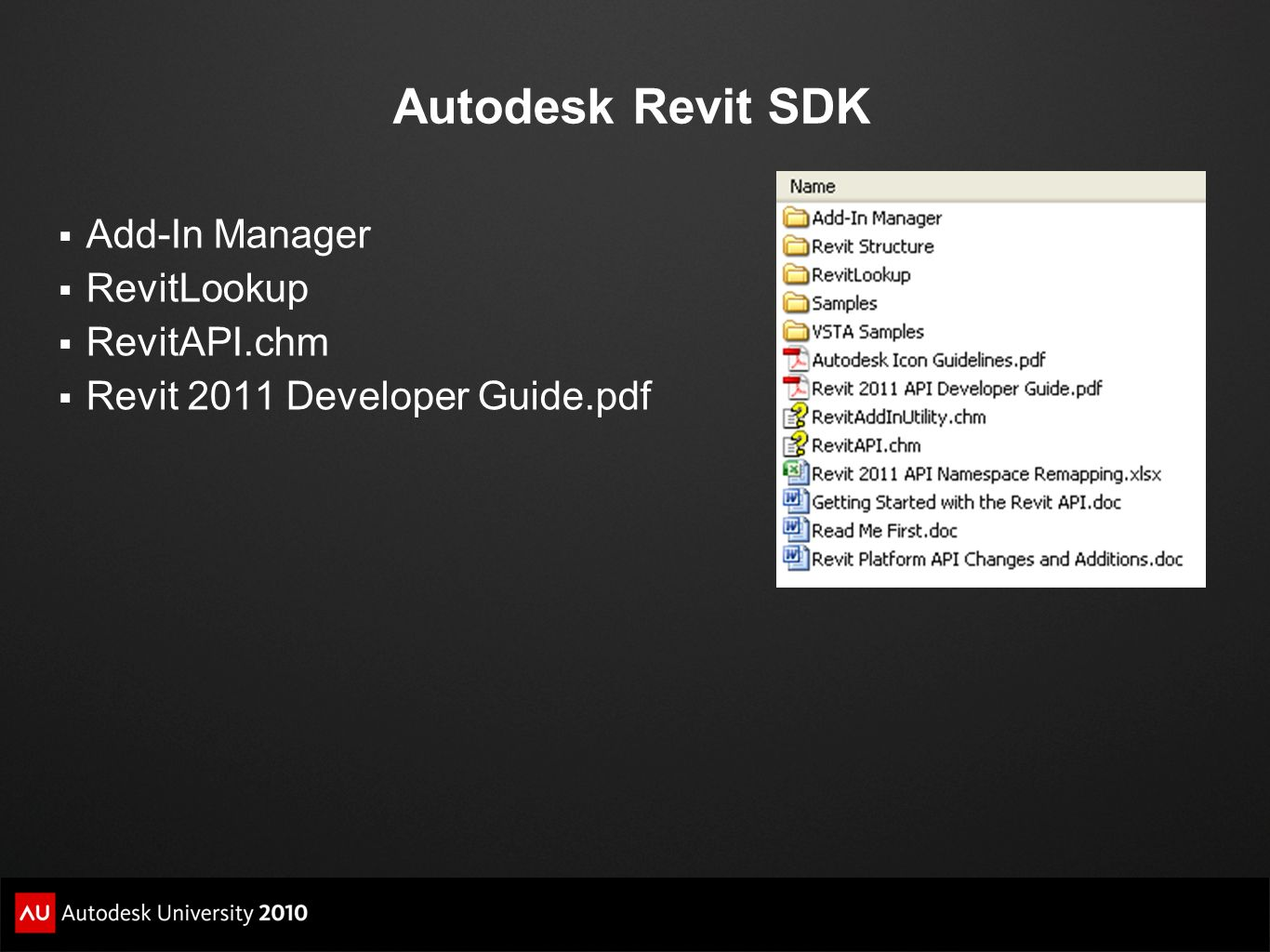 Autodesk Revit SDK Add-In Manager RevitLookup RevitAPI.chm