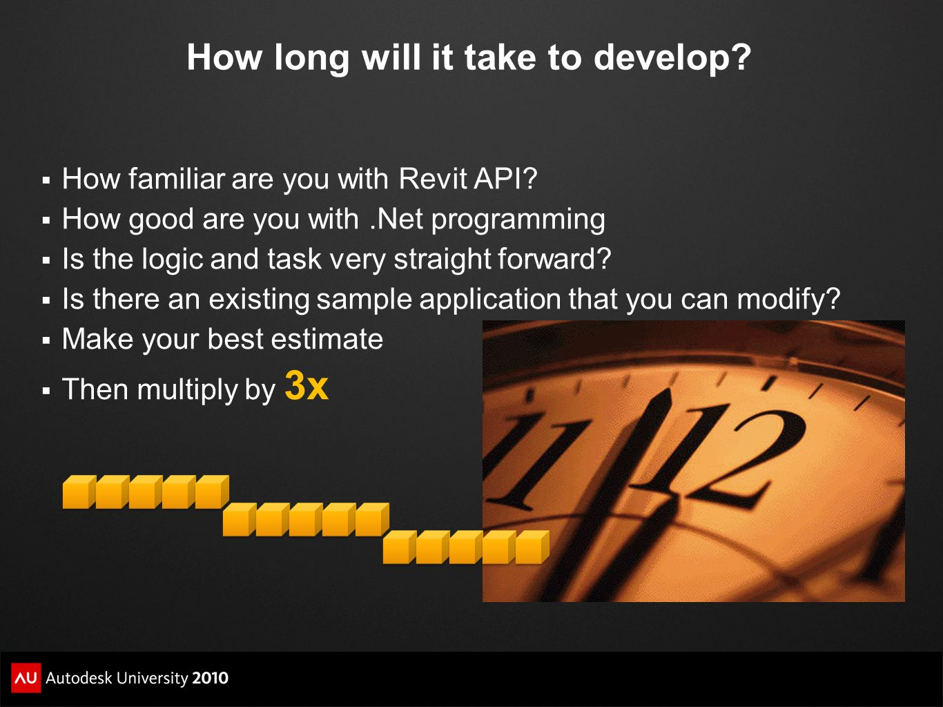 How long will it take to develop