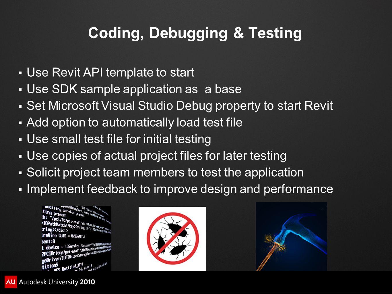 Coding, Debugging & Testing